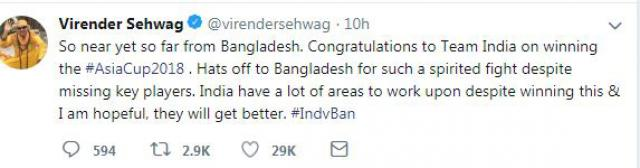 bd sports news, asia cup final 2018, virendra sehwag