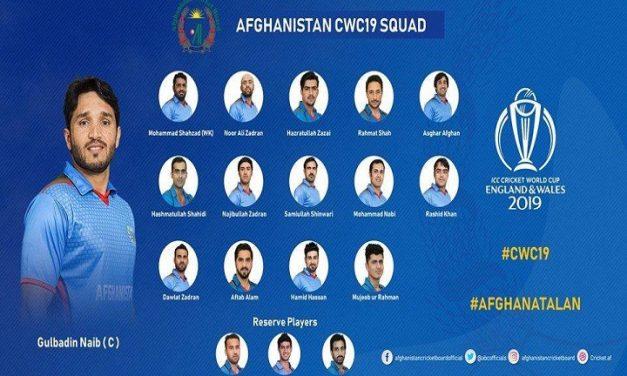 বিশ্বকাপের স্কোয়াড ঘোষণা দিল আফগানিস্তান